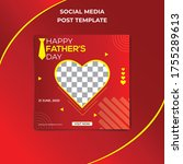 happy father's day social media ... | Shutterstock .eps vector #1755289613