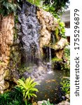Small Waterfall And Pond With ...