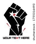 black power symbol in black... | Shutterstock .eps vector #1755316493