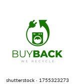 washing machine buyback icon.... | Shutterstock .eps vector #1755323273
