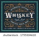 a vintage alcohol label design  ... | Shutterstock .eps vector #1755334610