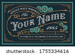 a vintage whiskey label... | Shutterstock .eps vector #1755334616