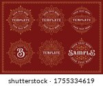 set of vintage badges isolated... | Shutterstock .eps vector #1755334619