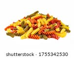 Heap Of Colorful Spiral Pasta ...