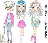 vector set hipster beautiful...   Shutterstock .eps vector #175534808