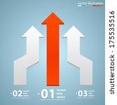 vector arrows business growth | Shutterstock .eps vector #175535516