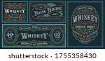 a set of vintage alcohol label... | Shutterstock .eps vector #1755358430
