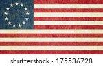 grunge betsy ross flag | Shutterstock . vector #175536728