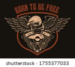 an american eagle on a...   Shutterstock .eps vector #1755377033