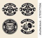 set of vector logos  badges ... | Shutterstock .eps vector #1755377036