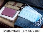 Suitcase Prepares To Travel...