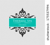 spa background. element for... | Shutterstock .eps vector #175537994