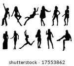 fashion silhouettes | Shutterstock .eps vector #17553862