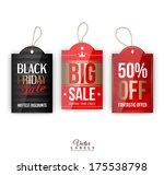 vector vintage sale tags ... | Shutterstock .eps vector #175538798