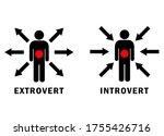 extrovert and introvert vector...   Shutterstock .eps vector #1755426716