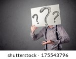 businessman holding a paper... | Shutterstock . vector #175543796