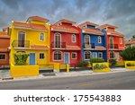 Colorful Villas In A Beach...