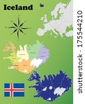 iceland vector set. isolated. | Shutterstock .eps vector #175544210