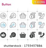 button icon set. included money ...