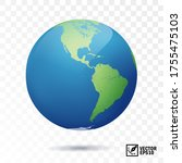 3d isolated vector earth  globe ... | Shutterstock .eps vector #1755475103