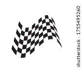race flag illustration logo...   Shutterstock .eps vector #1755495260