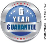 6 year guarantee stamp vector... | Shutterstock .eps vector #1755514769