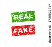 Real And Fake Stamp With...