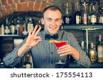 young man working as a... | Shutterstock . vector #175554113