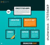 modern organizational chart... | Shutterstock .eps vector #175556069