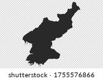 north korea map with gray tone... | Shutterstock .eps vector #1755576866