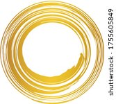 a gold circle drawn with a brush | Shutterstock .eps vector #1755605849