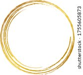 a gold circle drawn with a brush | Shutterstock .eps vector #1755605873
