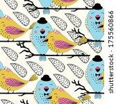 seamless love bird couple... | Shutterstock .eps vector #175560866