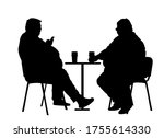 fat friends sitting and... | Shutterstock .eps vector #1755614330