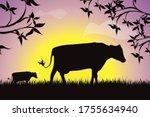 vector silhouette of group of... | Shutterstock .eps vector #1755634940