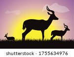 vector silhouette of group of... | Shutterstock .eps vector #1755634976