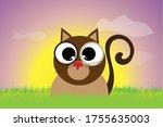 vector silhouette of kitty... | Shutterstock .eps vector #1755635003