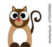 vector illustration of cat on... | Shutterstock .eps vector #1755635006