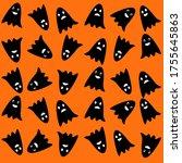 spooky halloween background....   Shutterstock .eps vector #1755645863