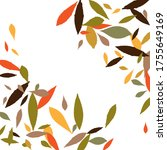leaves. throw autumn leaves.... | Shutterstock .eps vector #1755649169