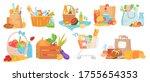 food basket vector illustration ... | Shutterstock .eps vector #1755654353