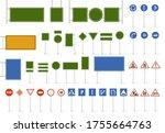 road street sign. direction... | Shutterstock . vector #1755664763