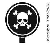 round danger sing icon. simple... | Shutterstock .eps vector #1755669689