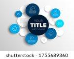 vector abstract circles... | Shutterstock .eps vector #1755689360