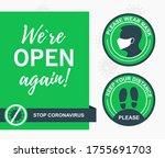 poster were open again. please... | Shutterstock .eps vector #1755691703