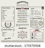 restaurant menu template.... | Shutterstock .eps vector #175570508