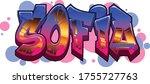 sofia name text graffiti word... | Shutterstock .eps vector #1755727763