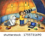 Astronomer At The Observatory...