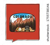 vintage adventure colorado... | Shutterstock .eps vector #1755738146