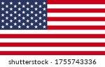 simple flag of usa vector   Shutterstock .eps vector #1755743336